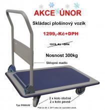 Vysokozdvižný vozík Plošinový ruční skládací vozík
